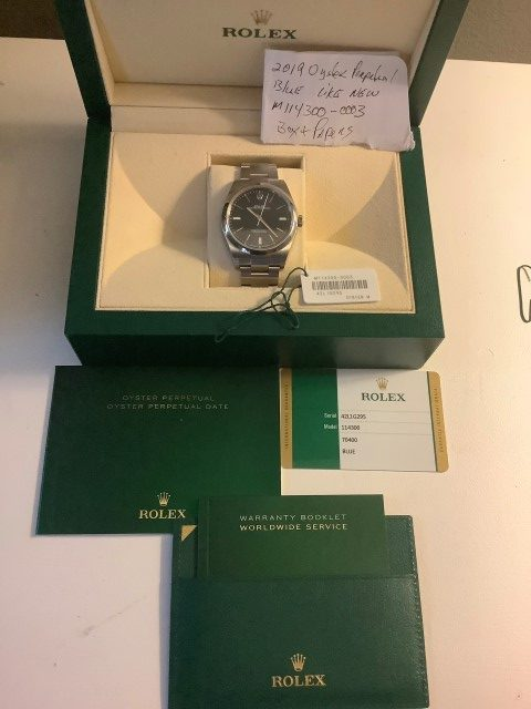 Box and Papers Rolex Oyster Perpetual 39mm 2019 Full Set