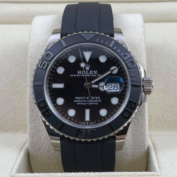 2021 WG Rolex Yacht Master White Gold 42mm 226659 Black Rubber Box Papers Complete