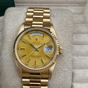 Rolex DayDate 'President' 18238 18K Yellow Gold T Serial Complete Set- Box & Papers