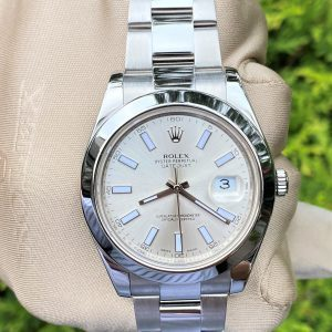 Rolex Datejust II 41mm Silver Dial 116300 BOX & PAPERS