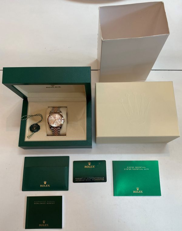 Rolex Datejust 41mm Two Tone Sundust Diamond Dial Jubilee 126301 Box and Papers