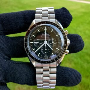 """2021 Speedmaster Moonwatch Co-Axial Master Chronometer """"Hesalite"""" Extra Omega Strap!!"""
