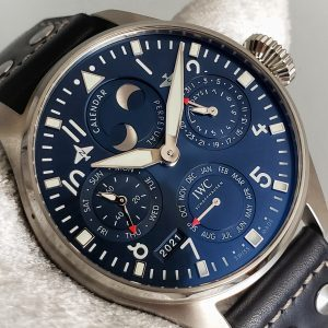 IWC Big Pilot Perpetual Calendar 46mm Blue Dial Stainless NEW Complete IW503605